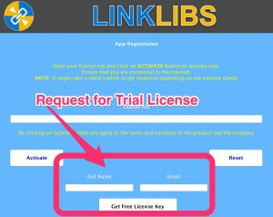 Linklibs - Request for Trial License Key
